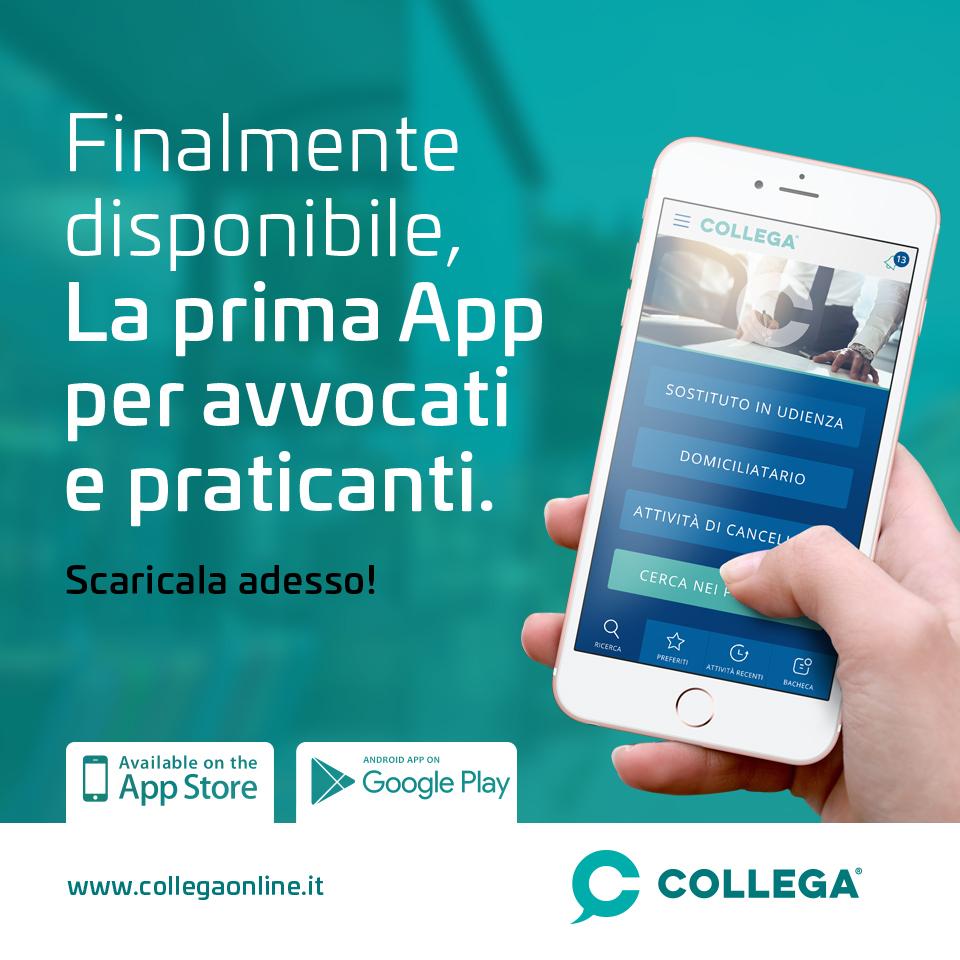 Finalmente Online la prima App fatta da Avvocati per gli Avvocati.